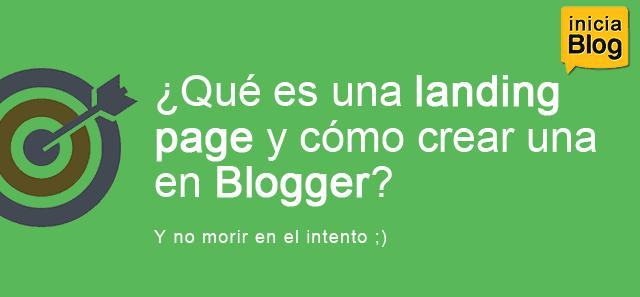 que es una landing page y como crear una en Blogger