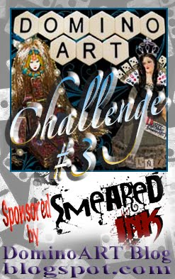 Enter DominoART Challenge #3 Scary Half-O-Ween Playing Card Challenge