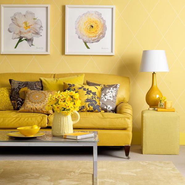 Sala De Estar Com Amarelo