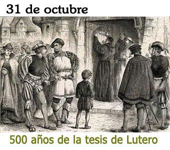 V centenario de la tesis de Lutero.