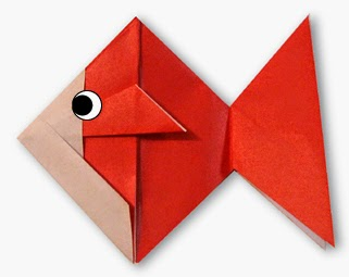 Origami Tutorials - How to make a paper GoldFish