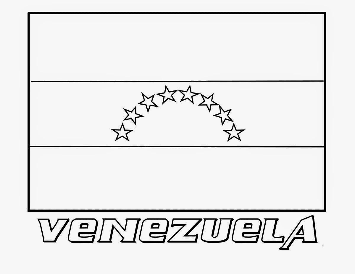 Bandera de Venezuela dibujo para colorear - Es Para Colorear