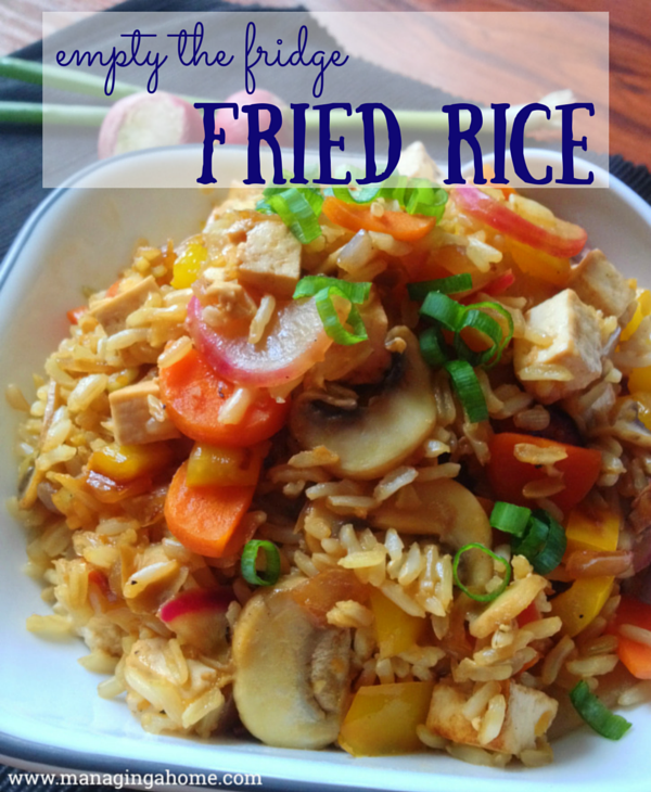 empty the fridge fried rice with tofu