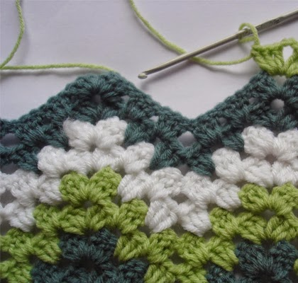 How to crochet Green Granny Ripple Afghan