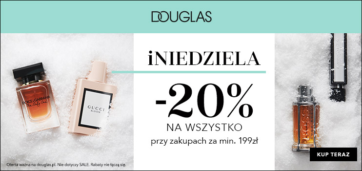 DOUGLAS -25% na zakupy