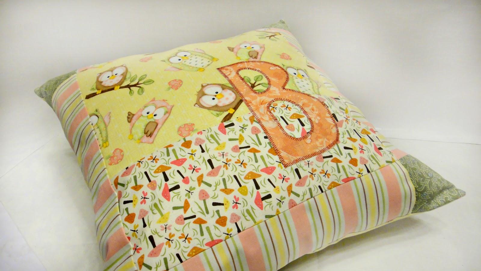 Квадратная подушка Совы, 40х40 см - диванная подушка для детской комнаты
