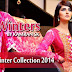 Smart Winter Dresses 2014-2015 By Rujhan Fabrics | Party Wear New Year Arrivals By Rujhan Fabrics