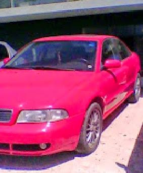 Audi  χρώμα κόκκινο  μοντέλο 97'  1600 cc τιμή 1800 €