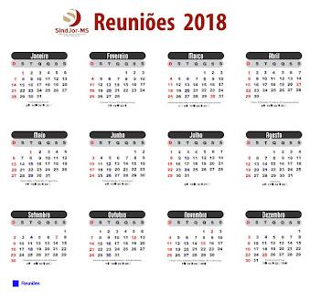 Calendário de Reuniões 2018