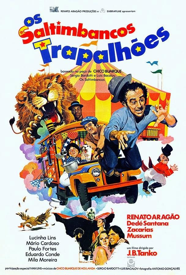 """Cartaz do filme """"Os Saltimbancos Trapalhões"""" de 1981."""