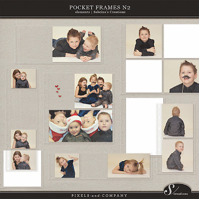 Pocket Frames Nr. 2 by Sabrina @ Pixels & Company - Dollar Days