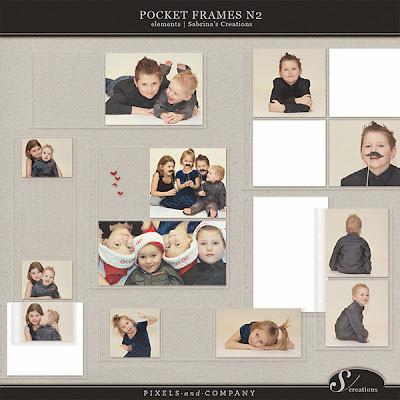 Pocket Frames Nr. 2 by Sabrina @ Pixels & Company - Dollar Days