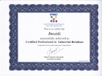 Certified Profesional In Industrial Relations