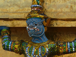 Grimacing demon at Grand Palace, Bangkok
