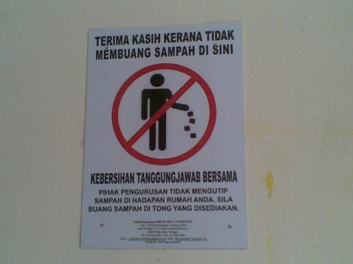 Jangan Buang Sampah Merata Rata