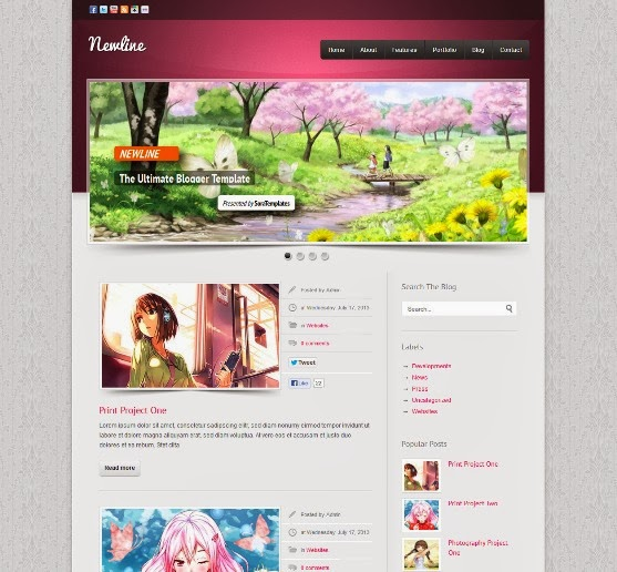Newline Blogger Template