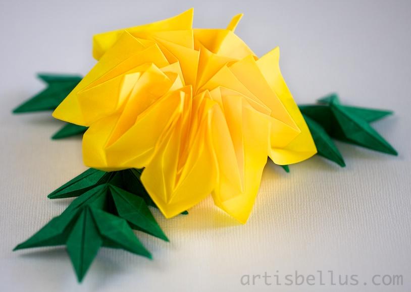 Origami artis bellus february 2013 origami flowers marigold mightylinksfo
