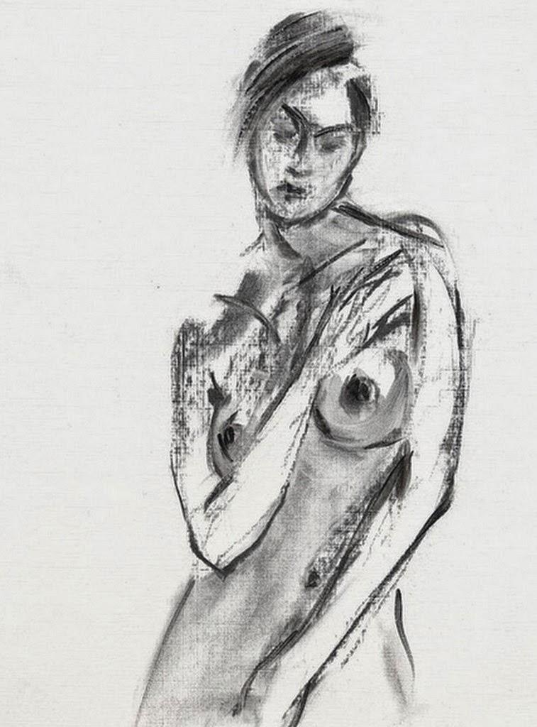 dibujos-faciles-a-lapiz-de-mujeres-sin-ropa