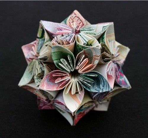 Creative Things In The World Art Paper Money Origami