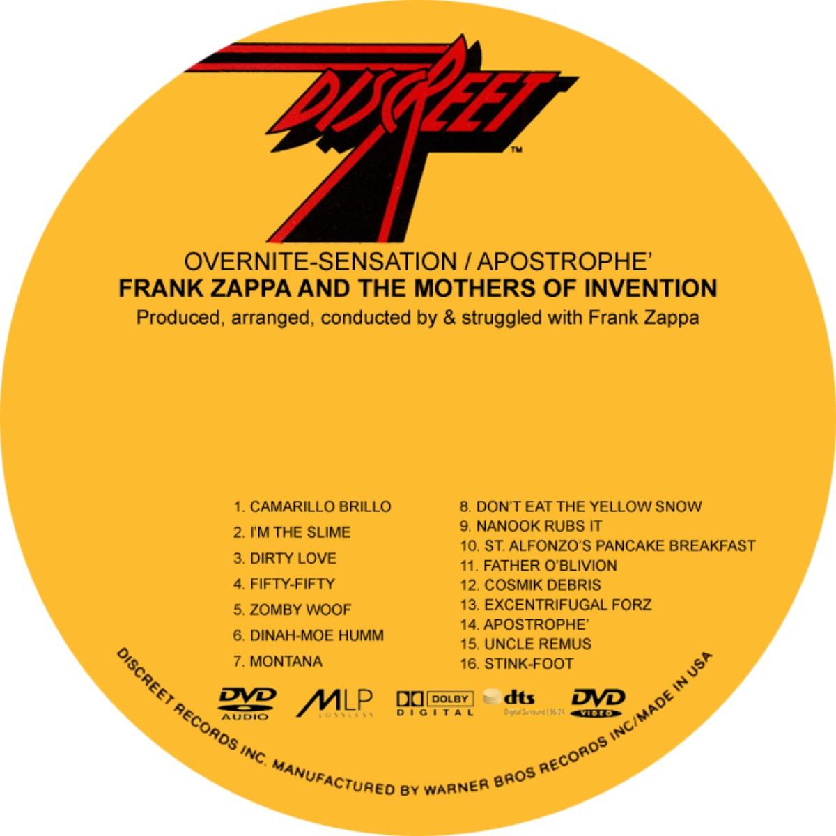 frank zappa overnight sensation rar