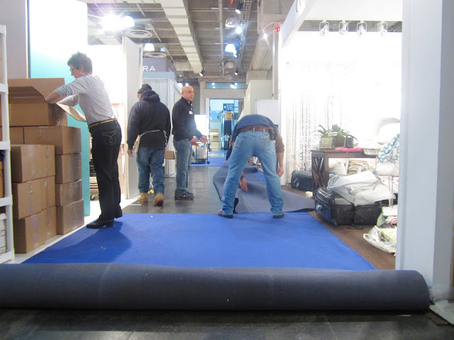 Packing up the Nbaynadamas booth at New York International Gift Fair