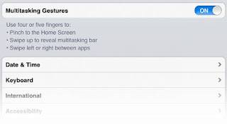 Multitasking gestures in iPad iOS
