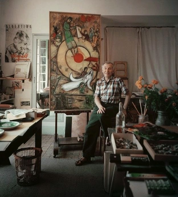 Workspaces Of The Greatest Artists Of The World (38 Pictures) - Marc Chagall, painter