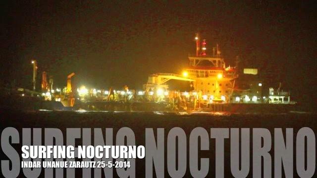 Zarautz 25-5-2014 Surfing Nocturno