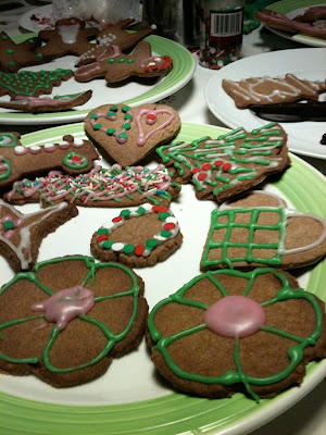 Gingerbread peyote cookies - a.k.a christmas cactus cookies :-)