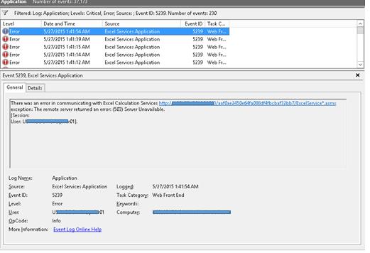 error 503 service unavailable sharepoint 2013