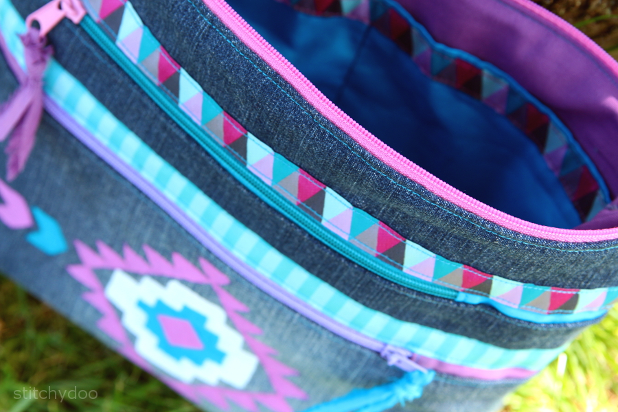 Ordnungshelfer und freihand Stoffmalkunst | Taschenspieler 2 Sew Along