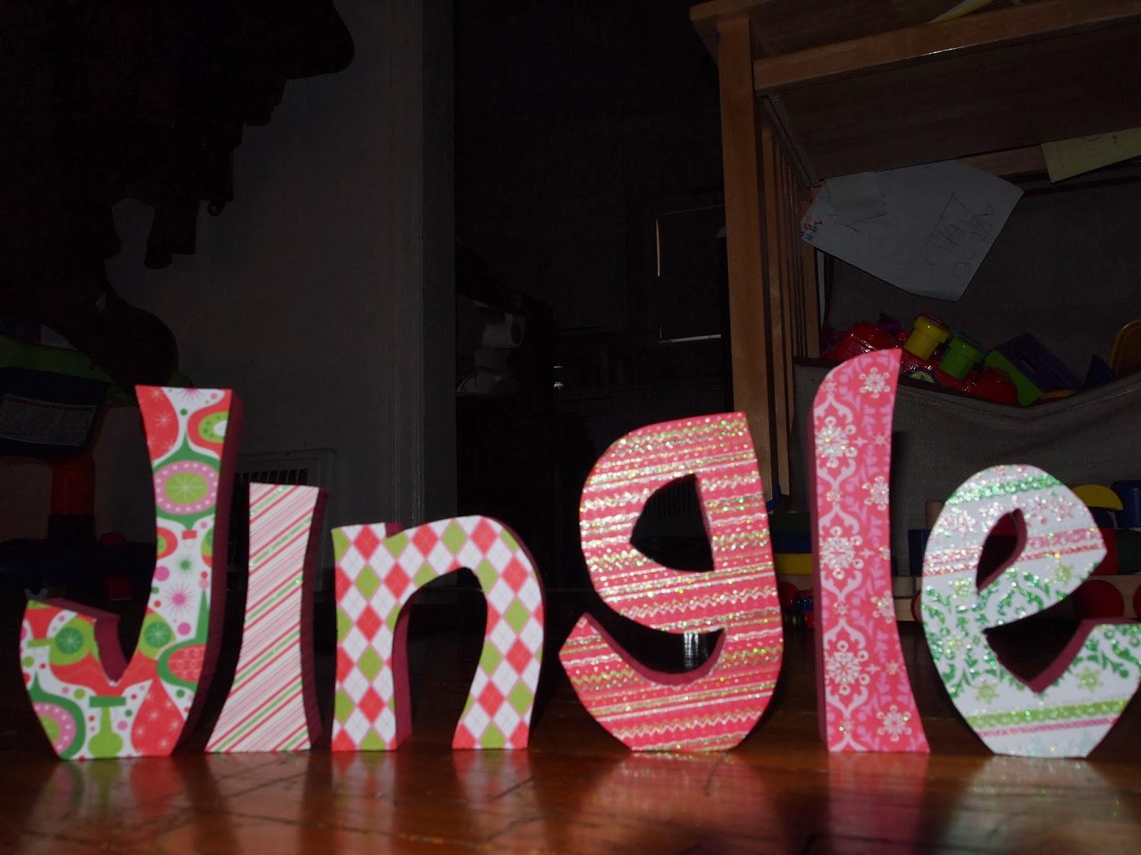 Jingle wood cutout