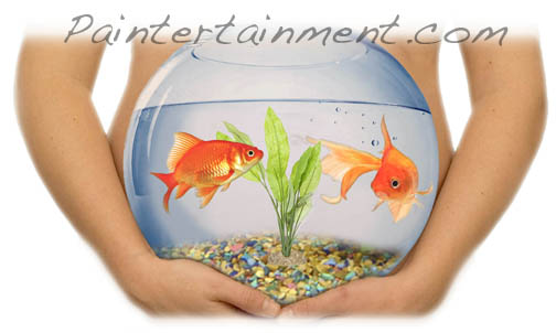 Paintertainment Baby Bump Painting Goldfish Bowl