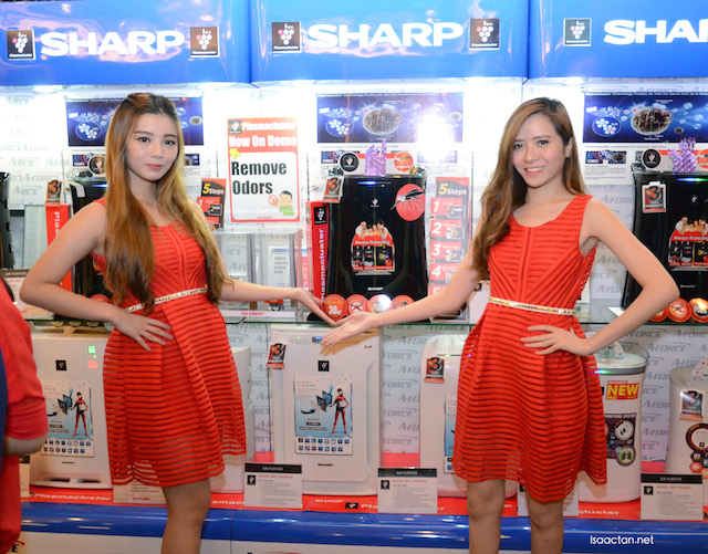 The main highlight of the launch: Sharp's Air Purifier with Mosquito Catching Features