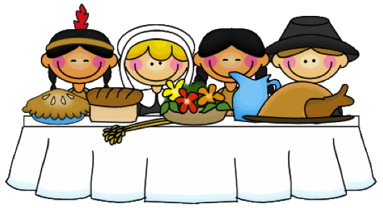 Thanksgiving Pilgrims and Indians Clip Art
