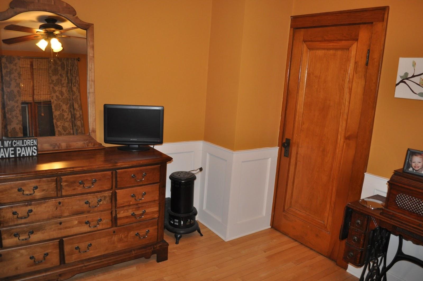 carri us home bedroom wainscoting