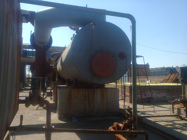 Sulfuric Acid Plant in Pakistan 100 Metric ton daily production by contact process single absorption, image by irfan ahmad plant operator, boiler