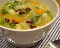 Sopa de Batata com Rúcula (vegana)