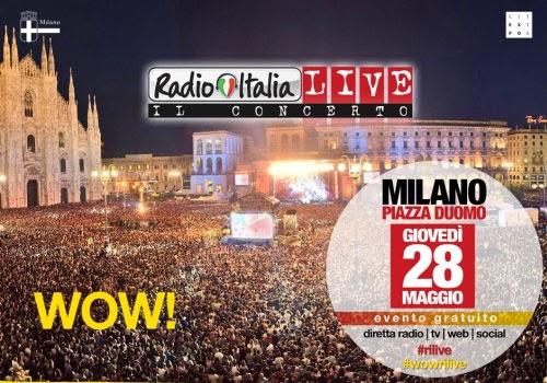 Concerto Radio Italia Live 2015 Milano Piazza Duomo