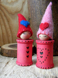 Valentine Spool Doll