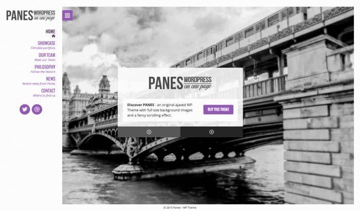 Panes - WordPress on One Page