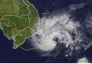 Tropischer Sturm PAKHAR unterwegs nach Vietnam, Pakhar, Ambo, 2012, März, aktuell, Pazifik, Vietnam, Satellitenbild Satellitenbilder, Vorhersage Forecast Prognose, Verlauf, Zugbahn,