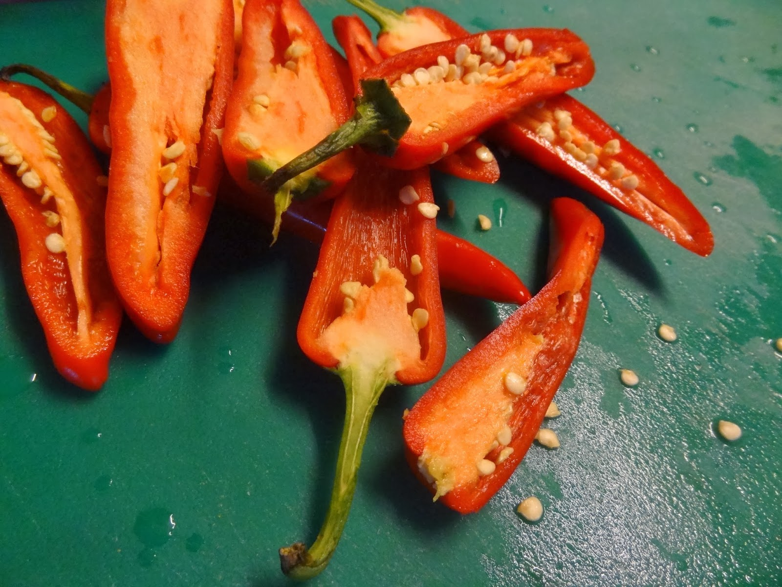 you like it hot , keep seeds intact, if you like it mild remove chili ...