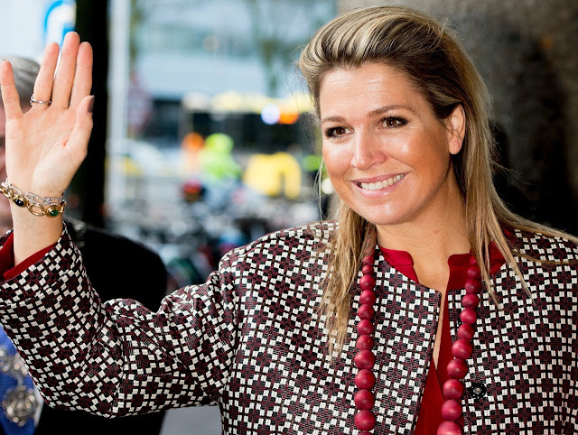 Queen Maxima of The Netherlands attends for the Social Powerhouse Symposium Serious Social Value