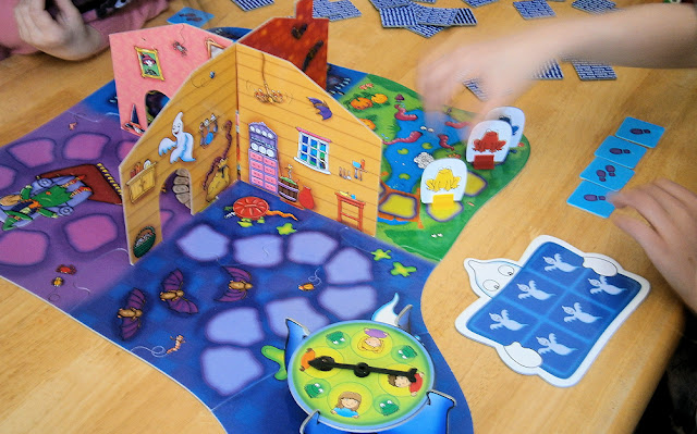 Haunted house board gae for children from orchard toys