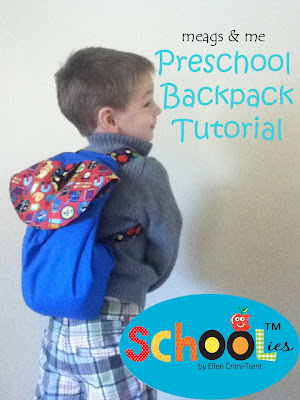 meags and me preschool backpack tutorial