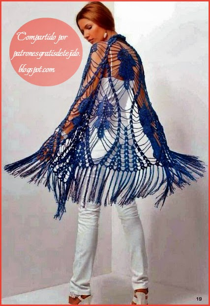 Chal tejido al crochet