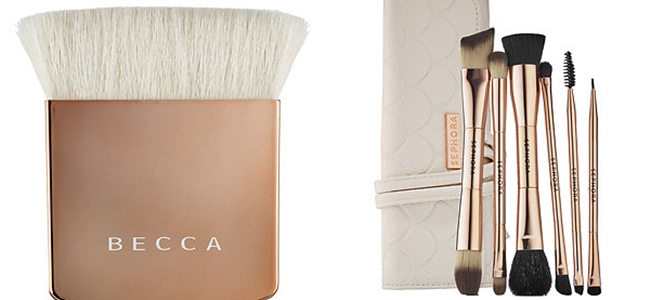 "SPRING 2015 MAKEUP: 30 Fabulous New Releases.Prolece 2015, sminka, novo na trzistu.New from Sephora.Becca ""The One Perfecting Brush"".Sephora Collection ""Double time double ended brush set"""