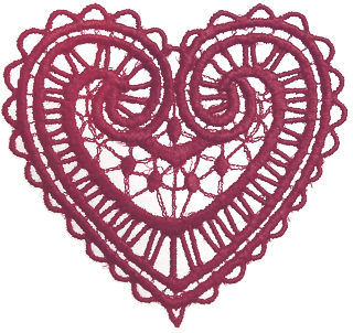 lace heart pink png transparent for scrapbooking free download