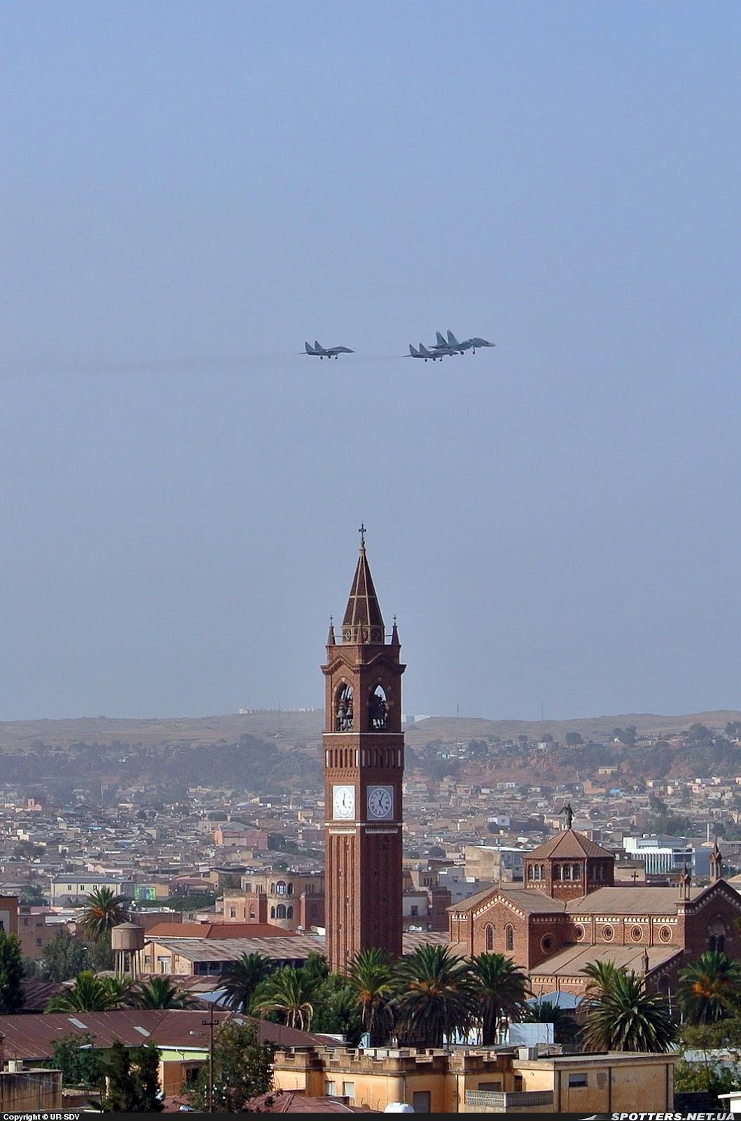 Armée Erythréenne / Eritrean Defence Forces ERITREA+ASMARA+SU-27+MIG-29+MIG-29UB+AIRE+24-05-2012